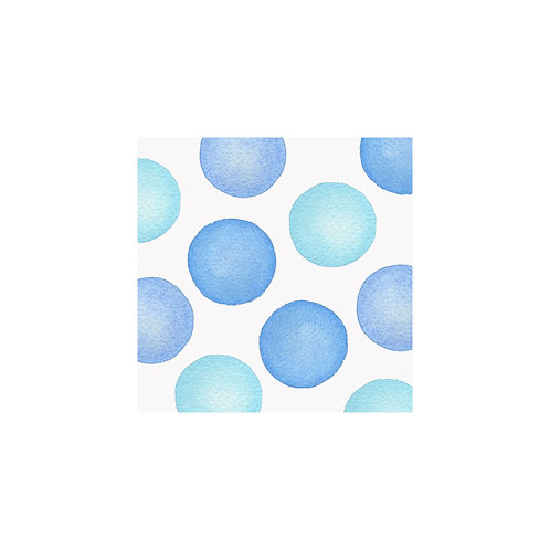 JUMBO DOTS NOTE CARDS - BLUE