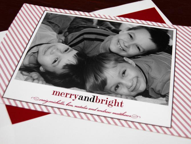 Candy Cane Photo Card