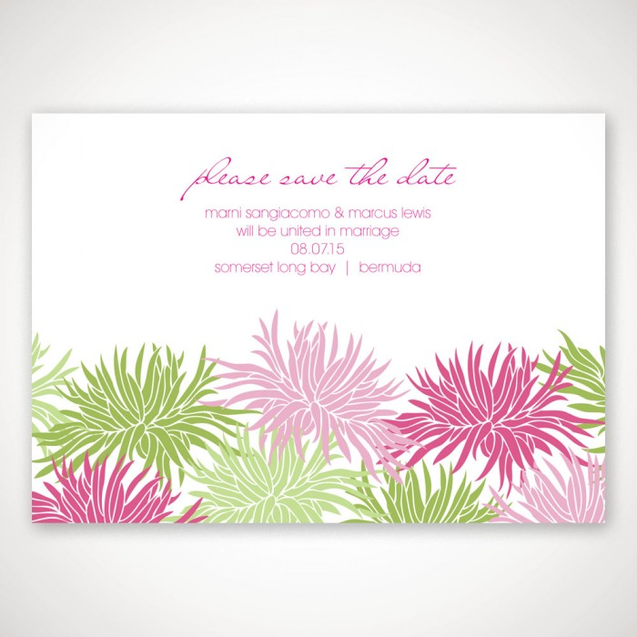 Colorful Destination Save the Date