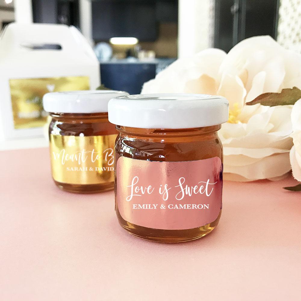 Love is Sweet Honey Jar Favors