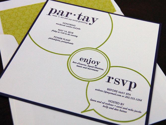 par-tay Invitation