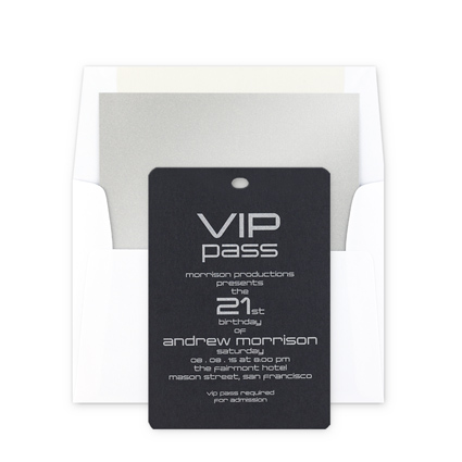 VIP pass Invitation