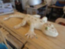 Gecko en céramique - La Lézarde