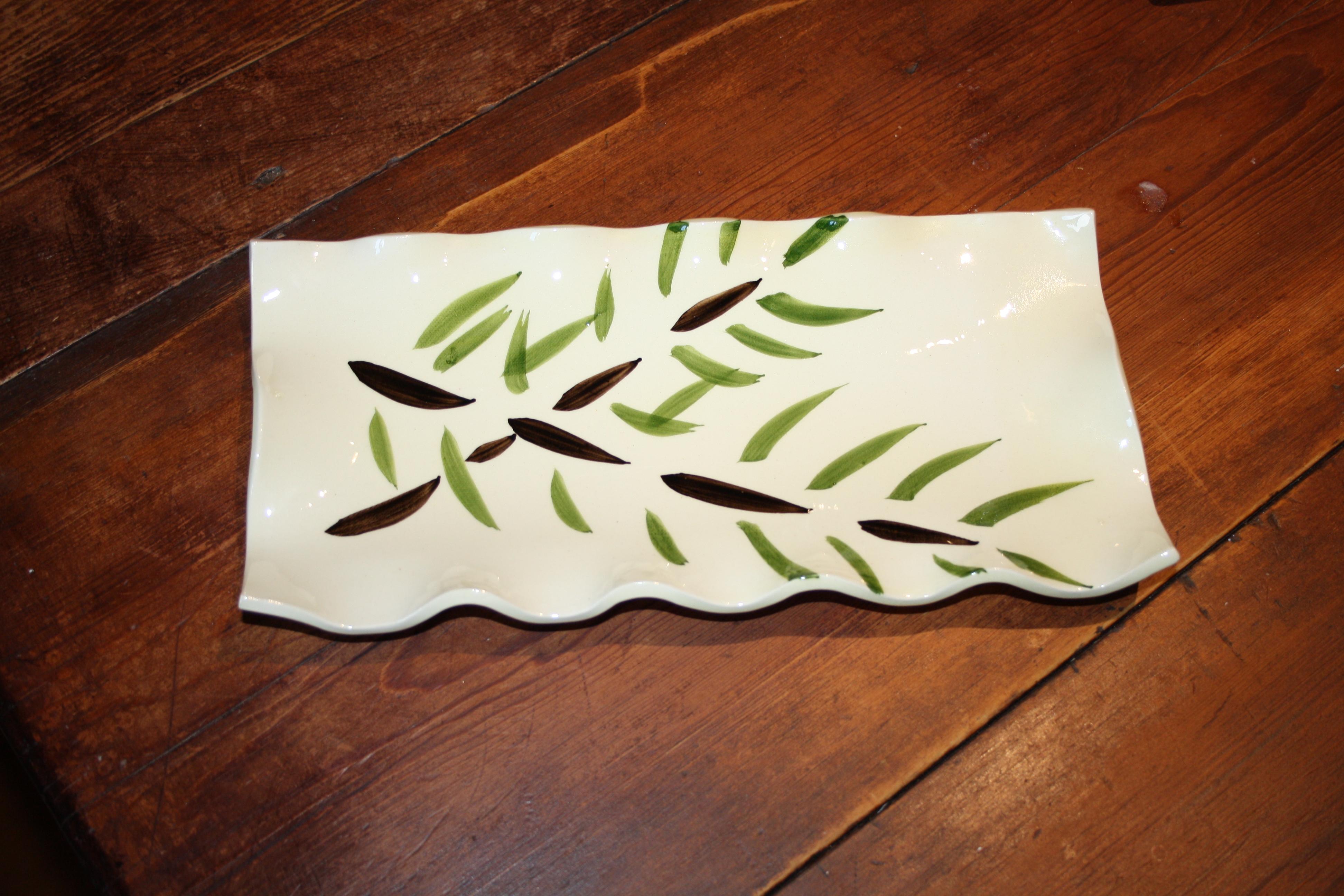 Plat bambou ondulé