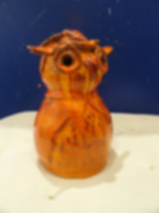 Chouette en céramique - La Lézarde