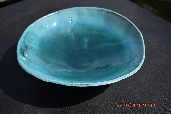 Saladier bleu turquoise