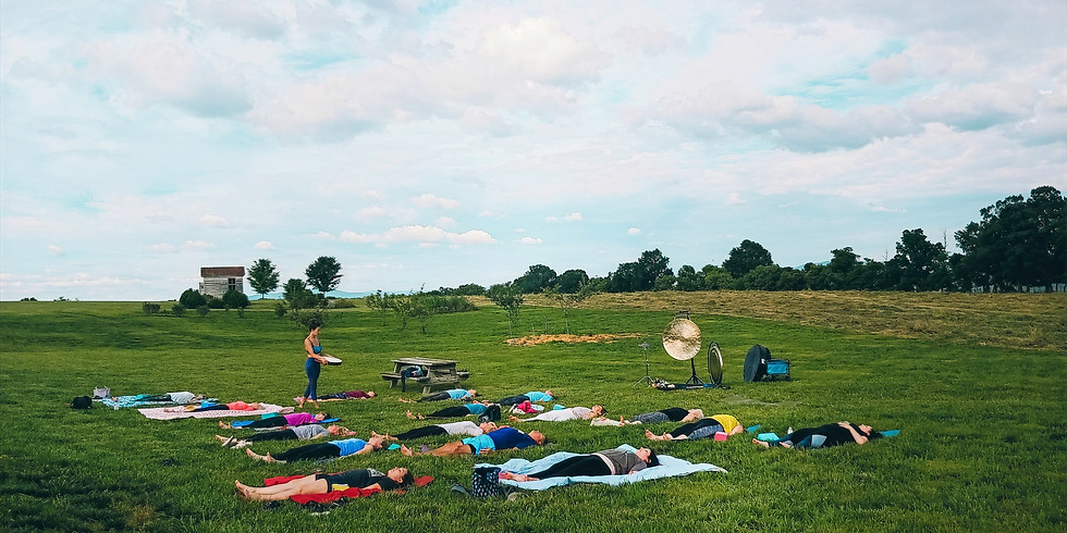 Live & Online Sound Healing Yoga and Wine