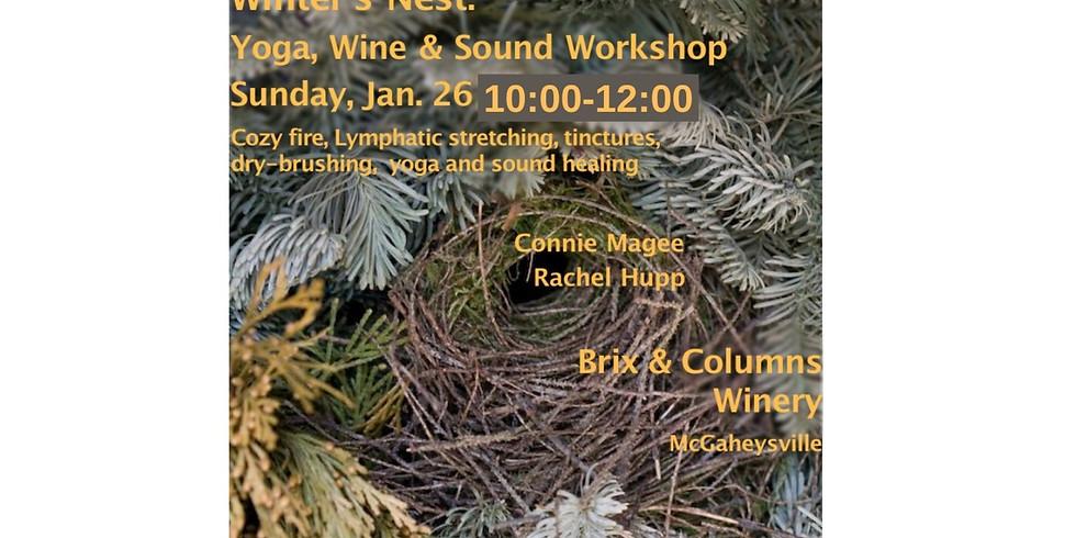 Winter's Nest: Yoga, Wine & Sound Workshop