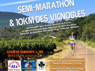 Semi-marathon et dix km des vignobles :