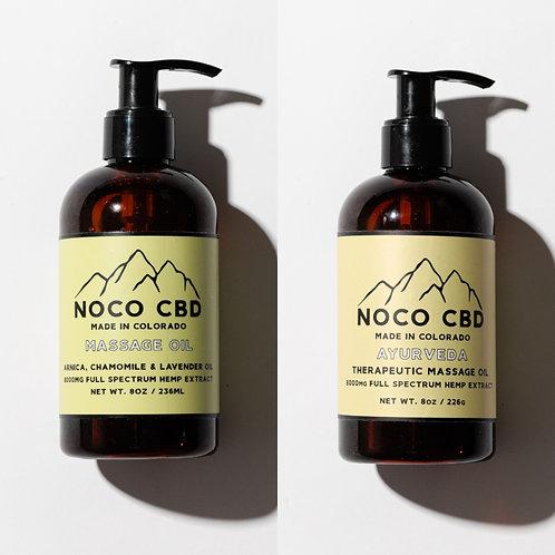 8,000mg CBD Massage Oil Combo Pack