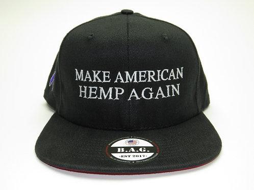 Epilepsy Awareness B.A.G. American Made Hemp Snapback
