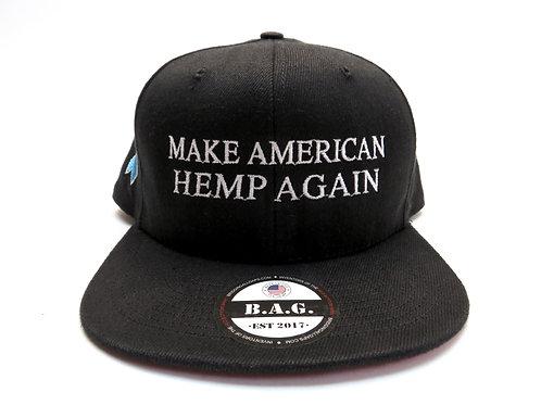 Addiction Awareness B.A.G. American Made Hemp Hat