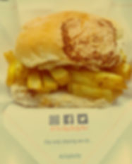 Traditional Brtish chip butty