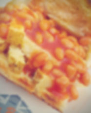 chips chese and beans chip butty