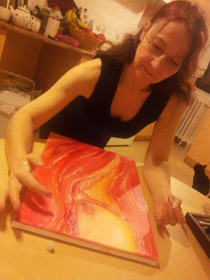 Painting a Guardian Spirit of Fire