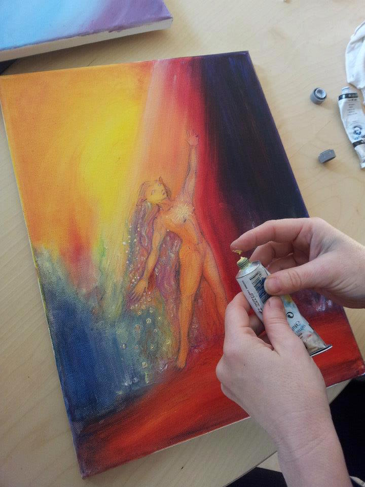 Painting a Guardian Spirit of Earth
