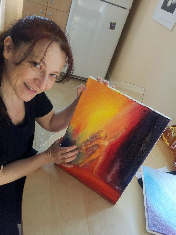 A touch of light on my painting...