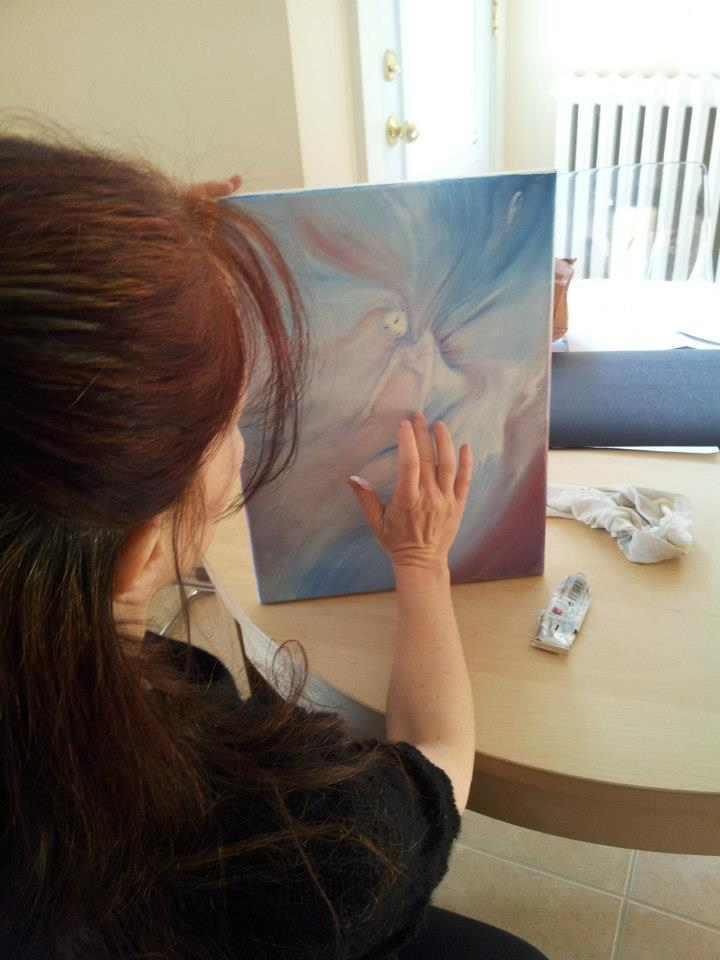 Painting a Guardian Spirit of Air