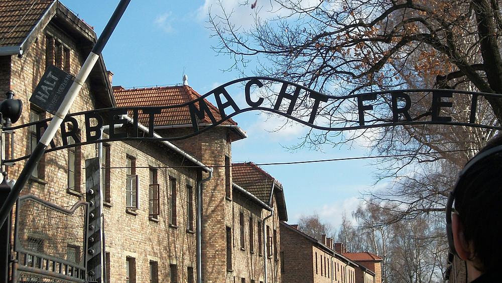 "The gates to Auschwitz-Birkenau reads: ""Work will set you free."""