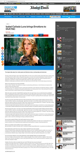 Khaleej time interview Isabel Canada.jpg