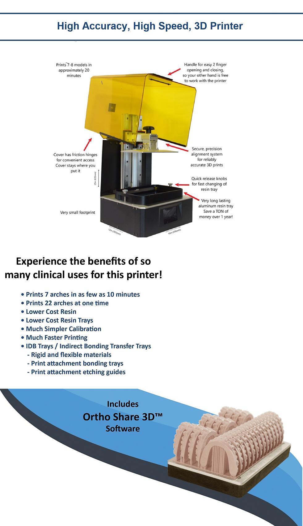 3D orthodontic printer