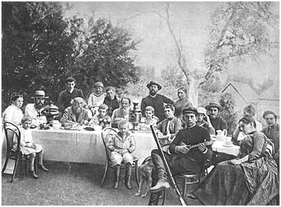 L.N. Tolstoy in a circle of family