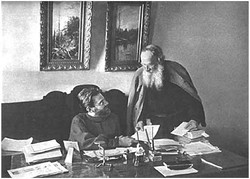 L. N. Tolstoy with his secretary