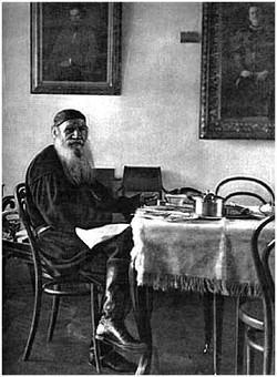L. N. Tolstoy in his house