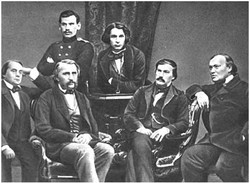 L.N. Tolstoy and a group of writers