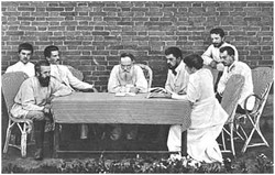 L.N. Tolstoy and his assistants