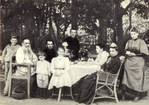 Rare Photo of Tolstoy and Family