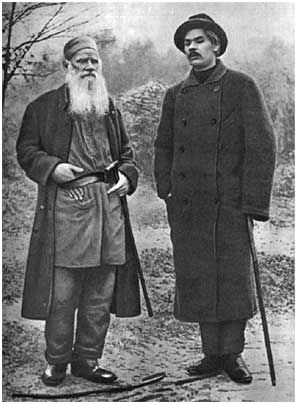 L. N. Tolstoy and A. M. Gorky