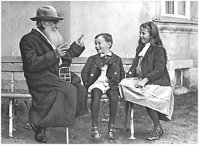 L. N. Tolstoy and his grandchildren