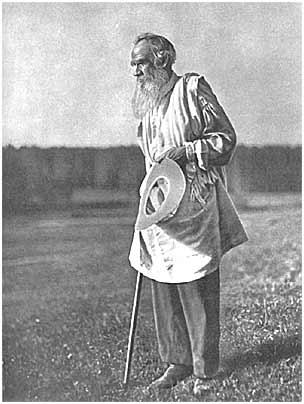 L. N. Tolstoy after a swim