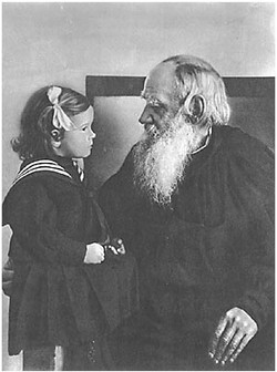 L. N. Tolstoy with his granddaughter