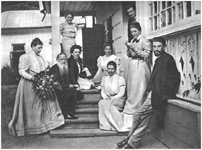 L. N. Tolstoy, Iasnaia Poliana,1899.