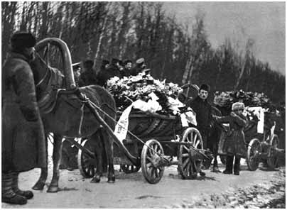 The funeral procession