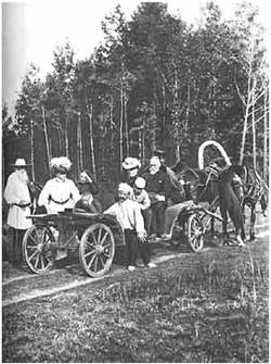 L. N. Tolstoy, on a stroll