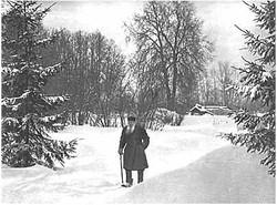 L. N. Tolstoy. Iasnaia Poliana, 1909