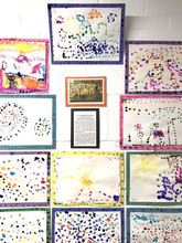 """Inspired by Georges Seurat, dots, dashes, and other """"parts"""" make a greater """"whole."""" Pointillism is characteristic of Post-Impressionism."""