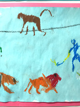 A circus scene animates this version of a joyful Blue Period.
