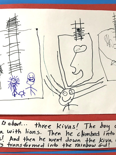 Three kivas inspire this student-narrated Native American legend.