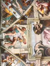 A glimpse of the original Sistine Chapel ceiling.