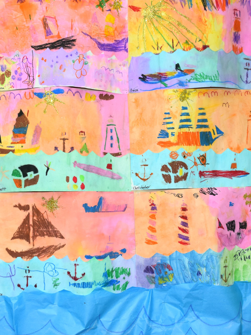 Our imagination sails away with seascapes.