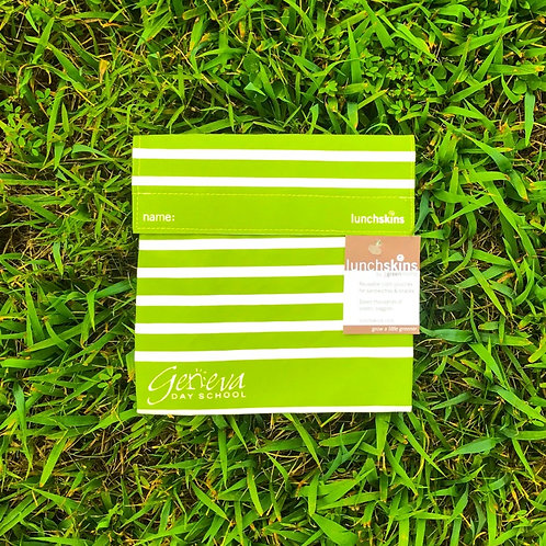 """Geneva Green"" Striped Square Lunchskin"