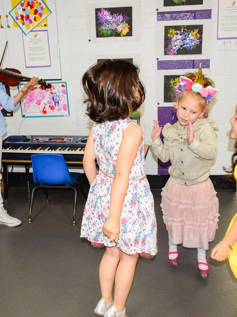 Our muses dance to Chloe's violin.