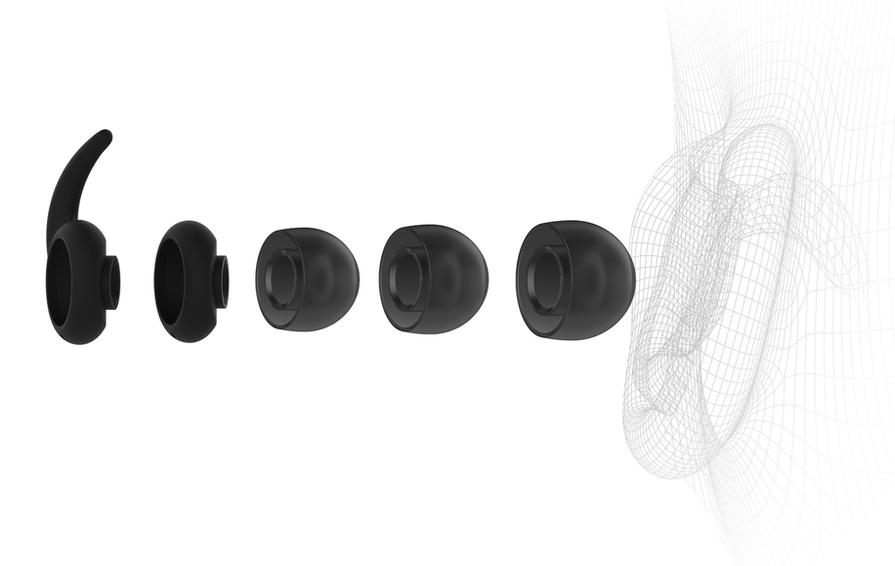 內附多組尺寸耳塞以及穩定器