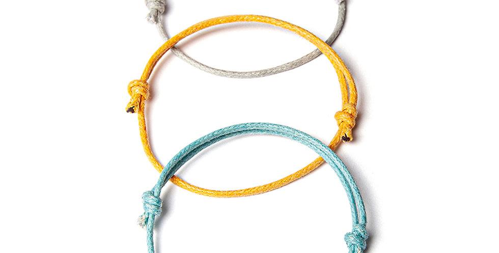 3lü Kalın Bileklik - Mavi, Sarı, Gri