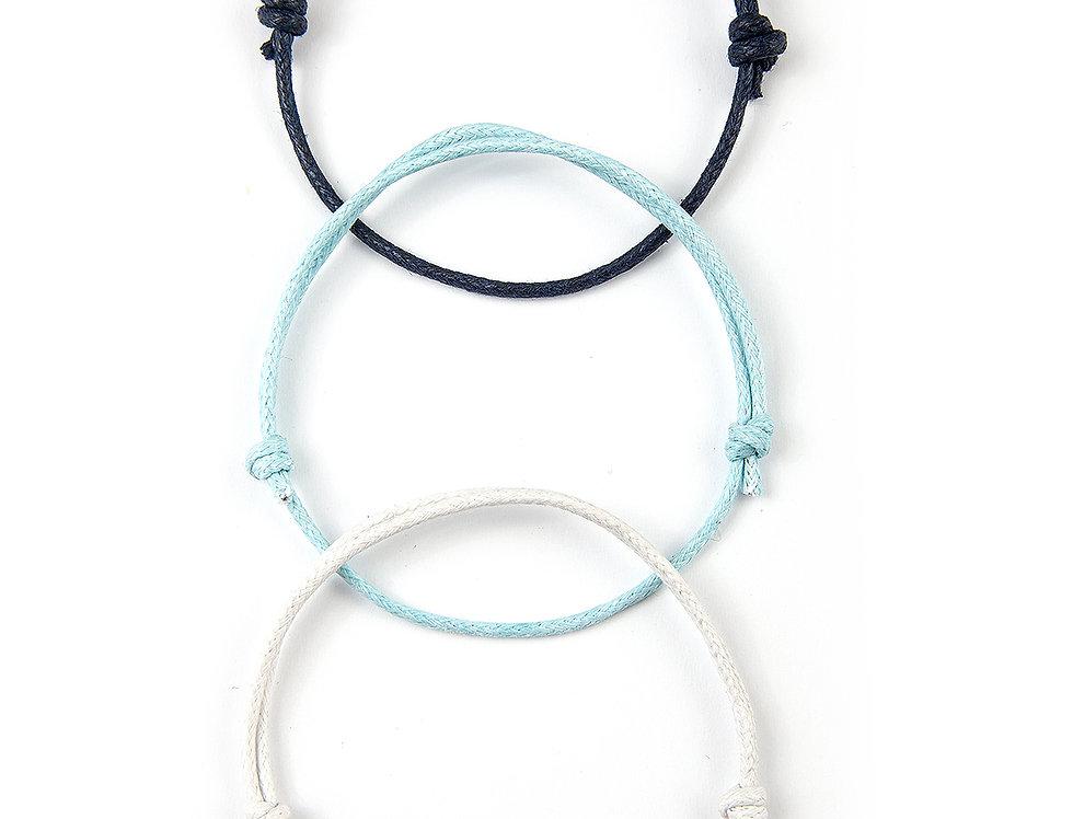 3lü Kalın Bileklik - Lacivert, Mavi, Beyaz