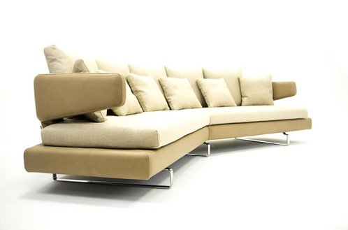 grand canap courbe maternas beige - Canape Courbe